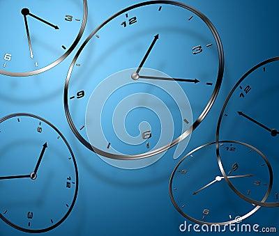 Abstract digital clocks