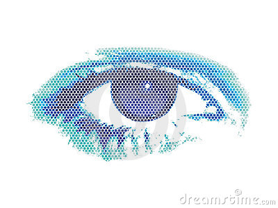 Abstract digital eye