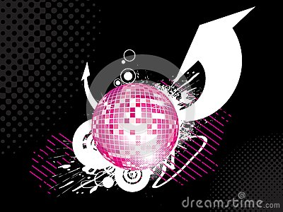Abstract disco-ball background