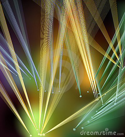 Abstract disco lights