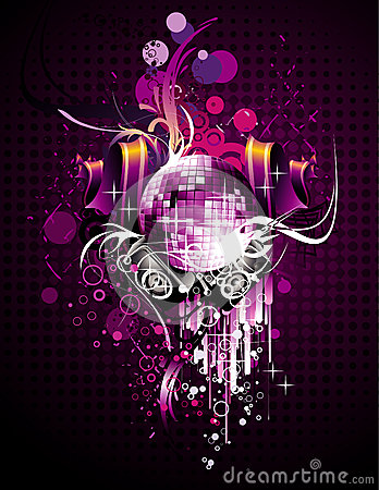 Abstract disco vector composition