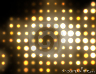 Abstract dots golden