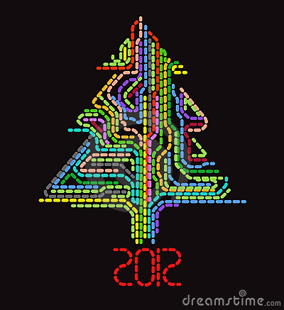 Abstract dotted christmas tree
