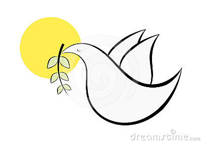 Abstract dove symbol