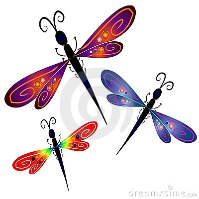Free Abstract Dragonfly Clip Art Royalty Free Stock Photo - 2807035