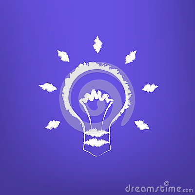 Abstract Draw Light Bulb isoated Vector Illustration