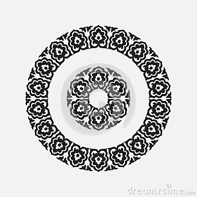 Free Abstract Drawing A Circular Pattern Flower Stock Photos - 62416993