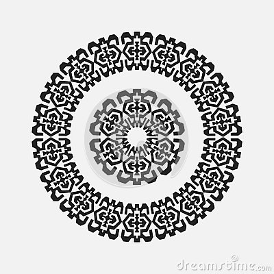 Free Abstract Drawing A Circular Pattern Flower Royalty Free Stock Photos - 62417018