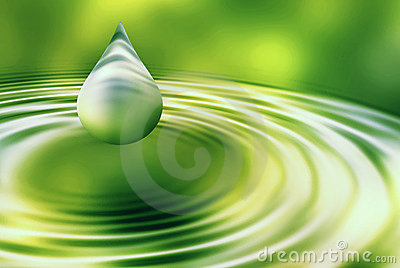 Abstract drop of water