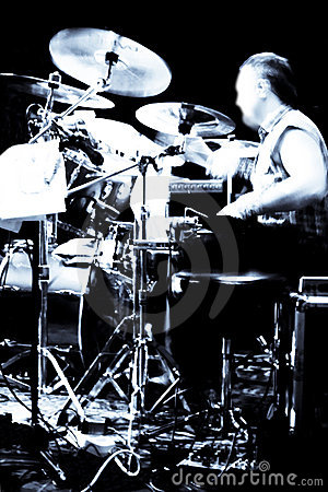 Abstract drummer concert