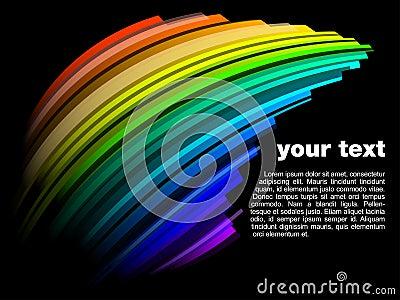 Abstract dynamic rainbow design