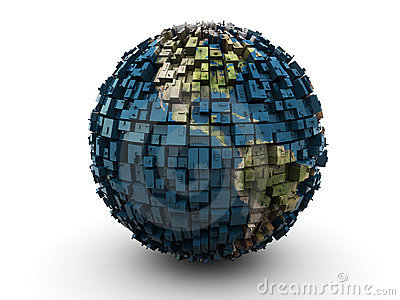 Abstract earth globe