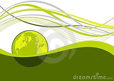 Abstract earth wavy lines
