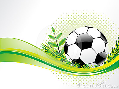Abstract eco background with football