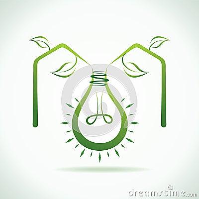 Abstract eco bulb make a eco home