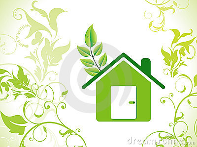 Abstract eco green home background