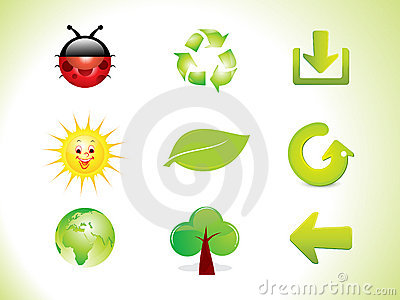 Abstract eco icon set