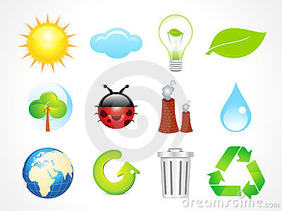 Abstract eco icons