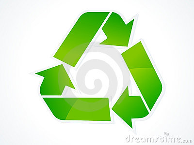 Abstract eco recycle icon