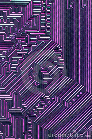 Abstract electronic computer violet background