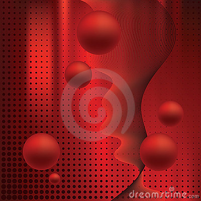 Abstract elegance background with balls.