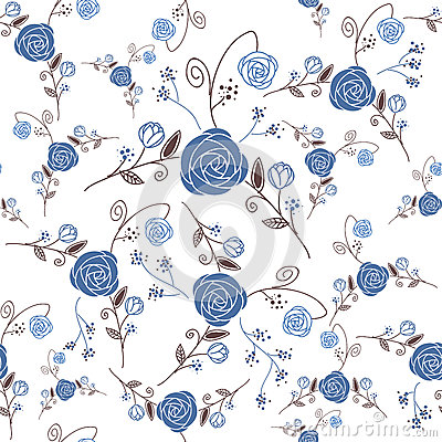 Abstract Elegance Seamless pattern with floral bac