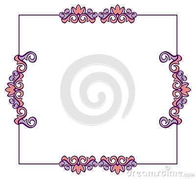 Abstract elegant frame. Stock Photo