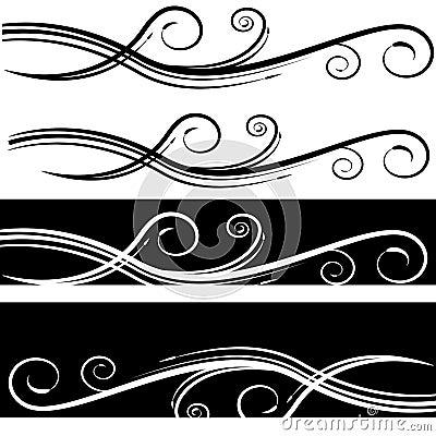 Abstract Elegant Swirl Background Set