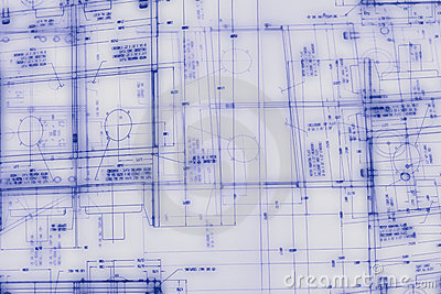 Abstract engineering drawing