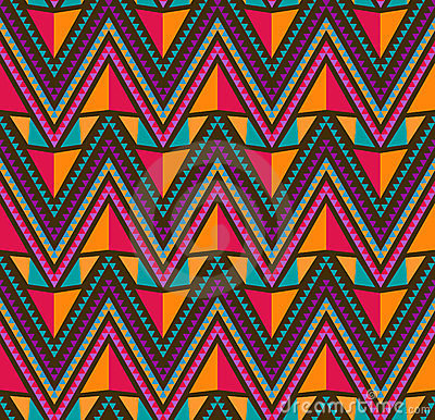 Abstract Ethnic Seamless Geometric Pattern
