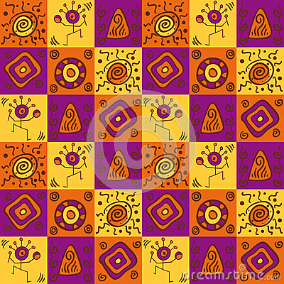 Abstract ethnical african seamless pattern
