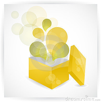 Abstract exploding gift box