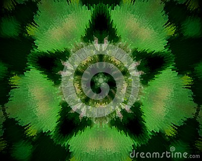 Abstract extruded mandala 5 sided star Stock Photo