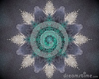 Abstract extruded mandala Stock Photo