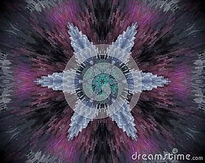 Abstract extruded mandala Stock Photo