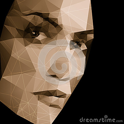 Free Abstract Face Geometric Background Royalty Free Stock Photography - 35513147