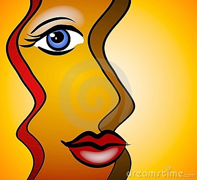 Free Abstract Face Woman Smiling Stock Image - 2925911