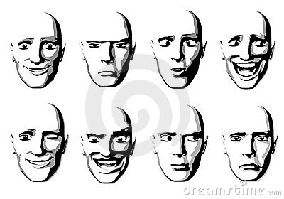 Abstract Facial Expressions Man
