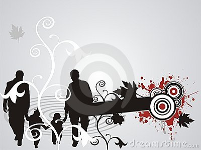 Abstract family floral splash illustration