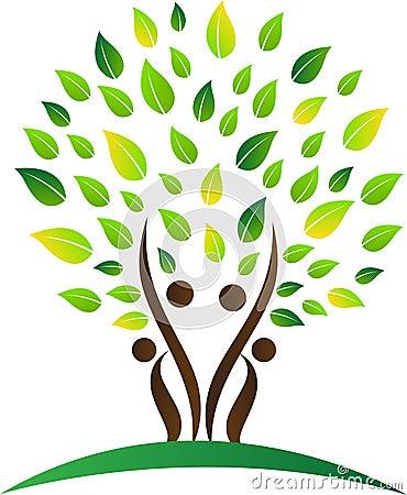Abstract family tree Vector Illustration