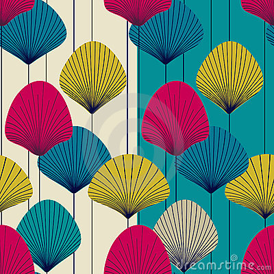 Abstract fans -  seamless pattern
