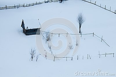 Abstract Farm in Winter