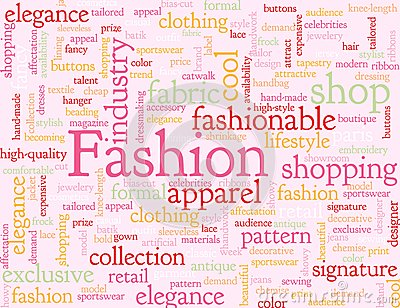 Abstract fashion background