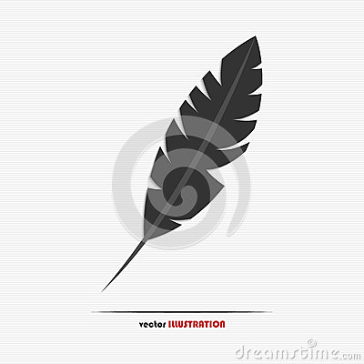 Abstract feather web icon