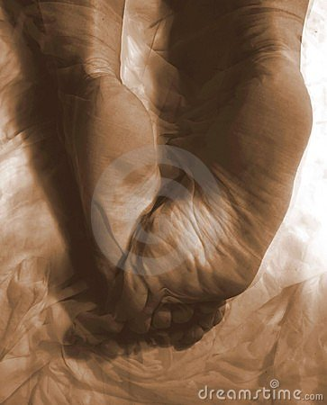 Free Abstract Female Bare Feet Of Cloth Stock Photos - 501003