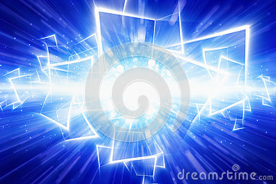 Abstract festive blue background