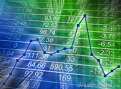 Abstract Financial Chart with Numbers