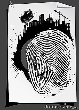 Abstract finger mark vector