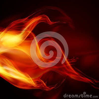 Abstract fire flames