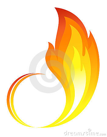Abstract fire flames icon